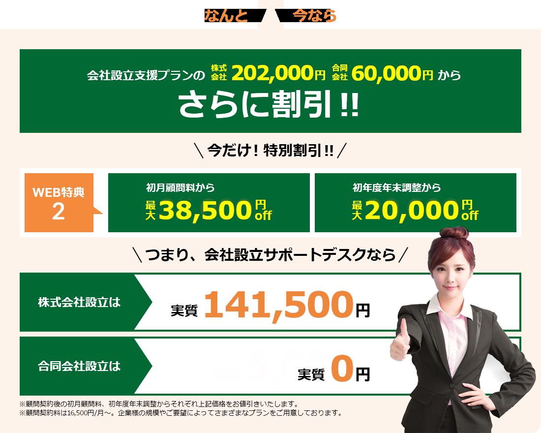 横浜の会社設立サポートデスク会社設立支援プラン